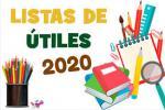 Lista de Útiles y Plan Lector  2020(actualizado Febrero)